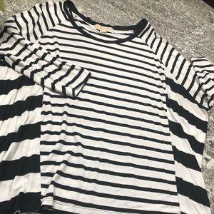 Michael Kors Dolman 3/4 Sleeve Striped Top